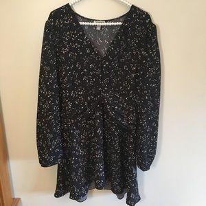 NWOT Chelsea28 long sleeve mini dress black sz XXL